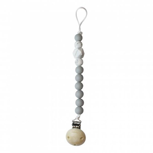 Attache Tétine Perle Silicone - Chewies and More gris clair