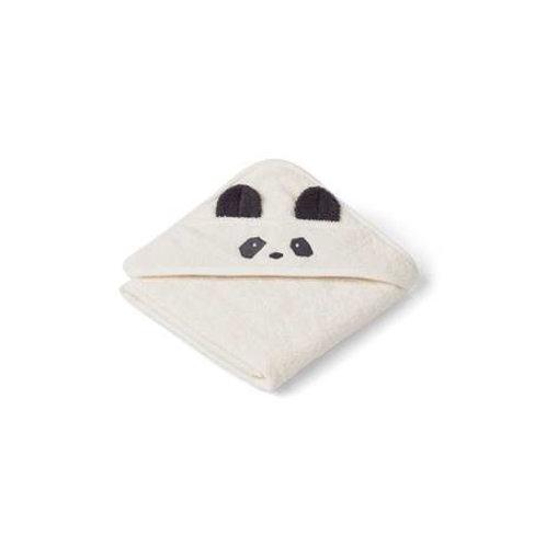 SERVIETTE BÉBÉ À CAPUCHE AVEC OREILLES liewood panda blanc