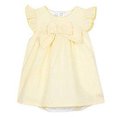 Robe vichy jaune en coton  absorba