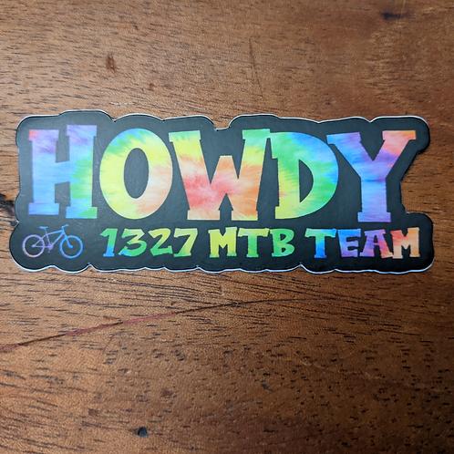 Howdy Rainbow Sticker 3inch
