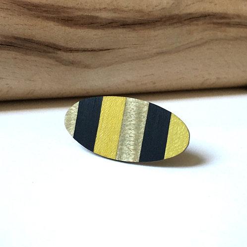 """Bague """"La belle ovale"""" jaune et gris"""