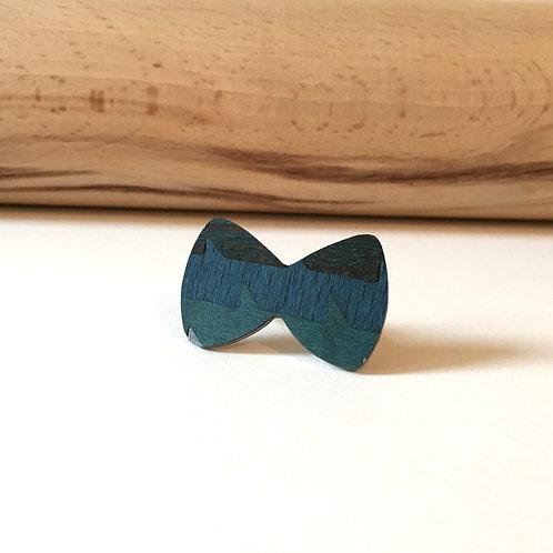 """Bague """"Nœud papillon"""" bleu"""