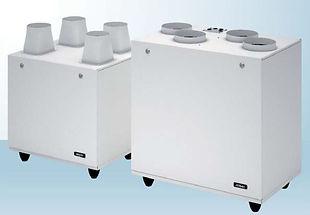 Récupérateur double flux , petit volume (jusqu'a 690 mc/h)
