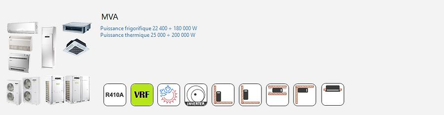AERMEC;Inverter;Climatisation;chauffage;confort;tertiaire;Commercial;DRV;R410A;Reversible;VRF;VRV;Mural;Console;Cassette;Gainable