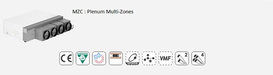 MZC;Ventilo-Convecteur;AERMEC;Gainable;non-carrossé;Multi-Zones;ZonesEurovent;Climatisation;chauffage;confort;Inverter;Brushless