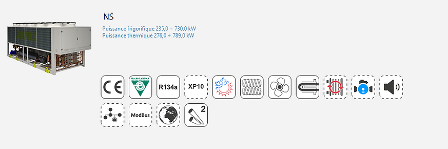 NS;Groupe Froid;AERMEC;Eurovent;Climatisation;chauffage;confort;Tertiaire;Industrie;Eau Glacee;PAC;Pompe a Chaleur;R134A