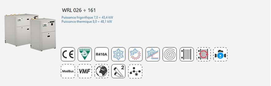 WRL;Groupe Froid;AERMEC;Eurovent;Climatisation;chauffage;Moto-Evaporateur;Tertiaire;Industrie;Eau Glacee;PAC;Pompe a Chaleur;R410A;Moto-Evaporation