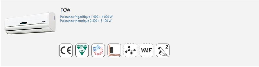 FCW;Ventilo-Convecteur;AERMEC;Console;mural;murale;Eurovent;Climatisation;chauffage;confort;