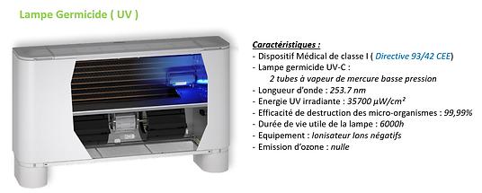 Ventilo-Convecteur avec Lampe Germicide