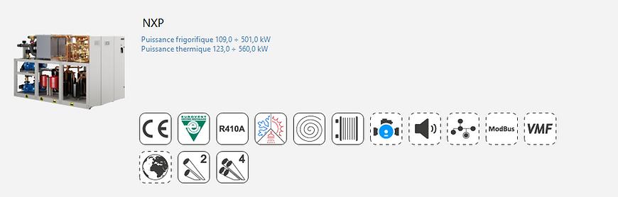 Groupe Froid;AERMEC;Eurovent;Climatisation;chauffage;Tertiaire;Industrie;Eau Glacee;PAC;Pompe a Chaleur;R410A;4 tubes;thermofrigopompe;NXP
