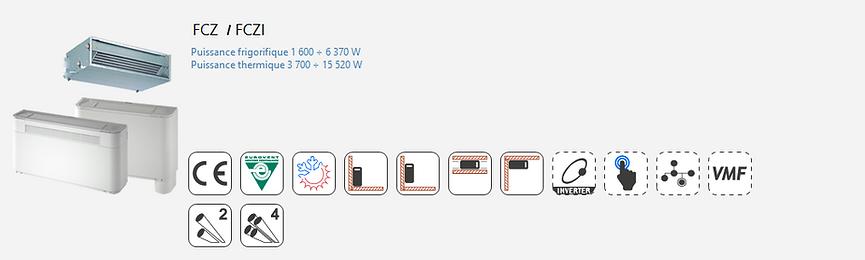 FCZ;Inverter;Ventilo-Convecteur;AERMEC;Console;Gainable;plafonniere;Eurovent;Climatisation;chauffage;confort;Inverter;Brushless;Economie