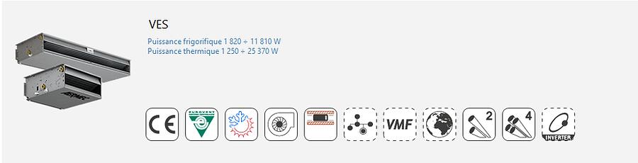 VES;Gainable;Ventilo-Convecteur;AERMEC;Console;Gainable;plafonniere;Eurovent;Climatisation;chauffage;confort;