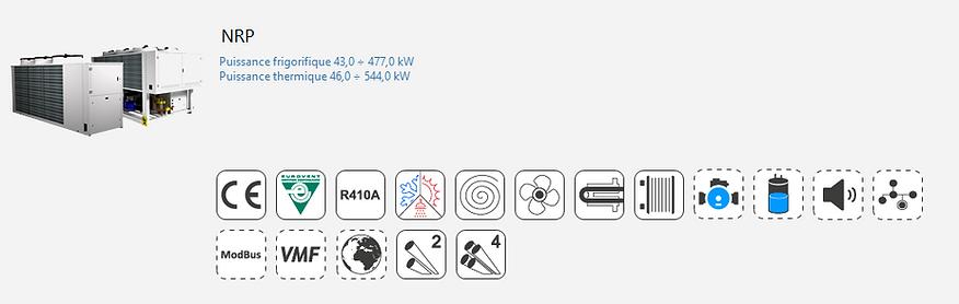 NRP;Groupe Froid;AERMEC;Eurovent;Climatisation;chauffage;Tertiaire;Industrie;Eau Glacee;PAC;Pompe a Chaleur;R410A;4 tubes;thermofrigopompe