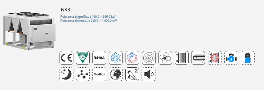 NRB;Groupe Froid;AERMEC;Eurovent;Climatisation;chauffage;confort;Tertiaire;Industrie;Eau Glacee;PAC;Pompe a Chaleur;R410A;microcanaux;tubulaire;plaques