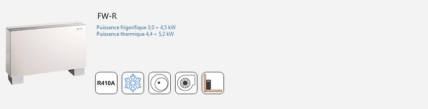 AERMEC;Climatisation;chauffage;confort;tertiaire;Industrie;Commercial;Split;R410A;Inverter;Console;Condensation Eau