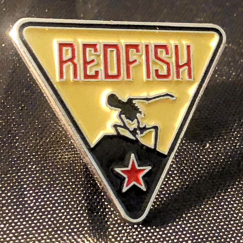 Redfish Skeleton Logo Enamel Pin Badge