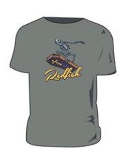 Redfish Surfing Logo on Light Graphite T Shirt