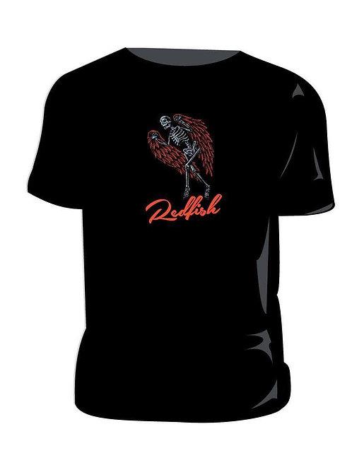 Redfish Red Logo on Black T Shirt