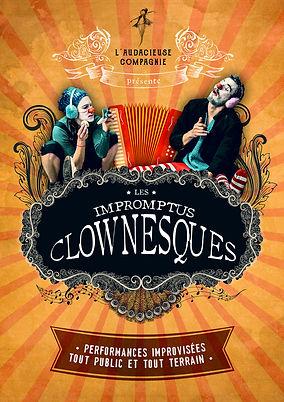 affiche impromptus clownesques