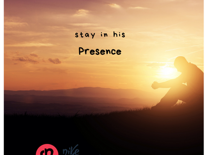Stay with His word.