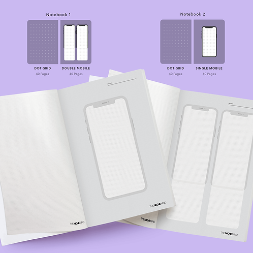Single & Double Mobile Wireframe Notebooks (PACK OF 2) (Exercise Notebook)