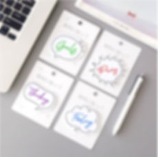 Empathy Map Sticky Notes Pack of 4 for UI UX Design