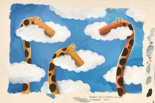 Chut, les girafes