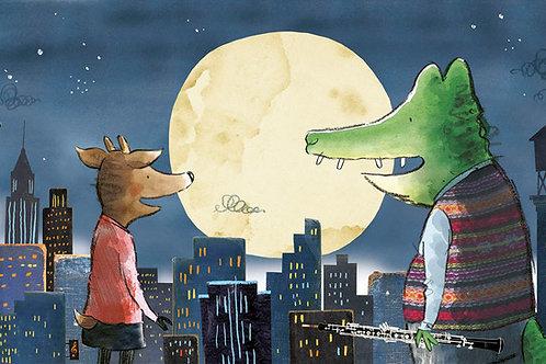 Herman and Rosie meeting on rooftop