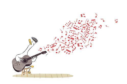 George playing guitar
