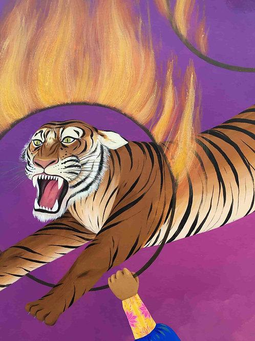 Martin du bateau cirque, le tigre
