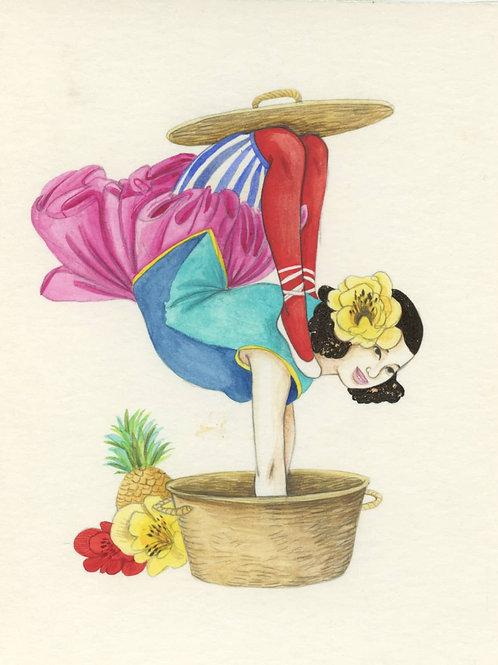 Martin du bateau cirque, La contorsioniste