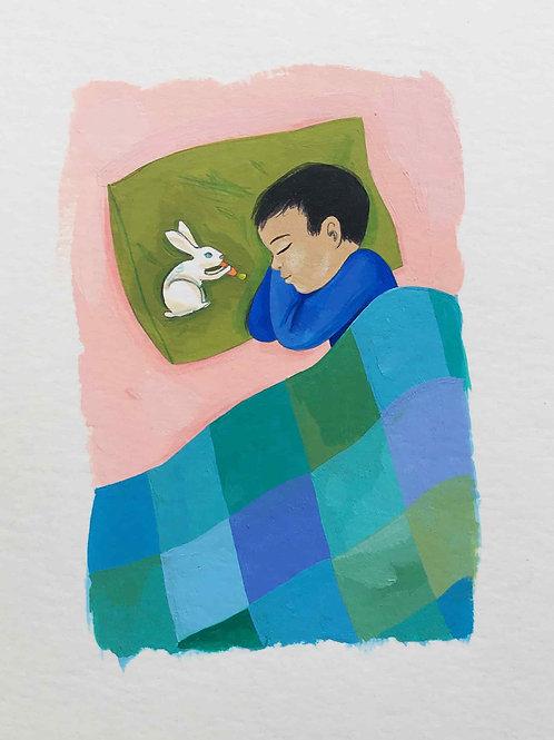 Tao et Léo, sieste au lapin