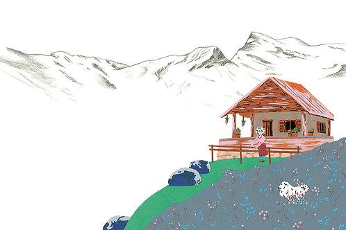 Chandolin, un chalet en Suisse