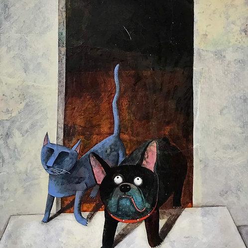 Sur le perron