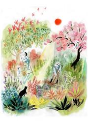 papier-peint-jardin