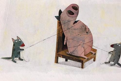 Le cochon ficelé