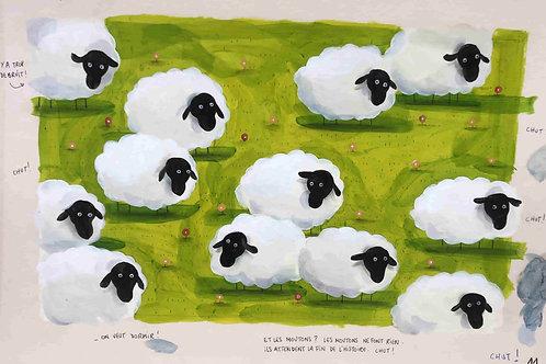Chut, les moutons