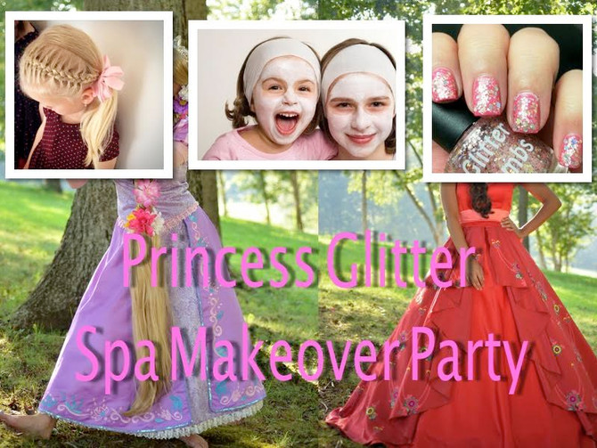 Princess Glitter Spa Makeover Party