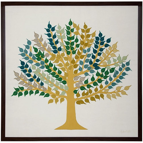 Peepal Tree Patchwork Wallhanging