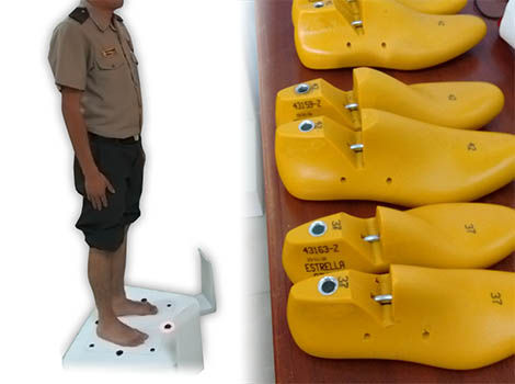 Foot scanning campaign and lasts produced from the morphological foot prototype