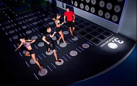 ICT enabled gym flooring