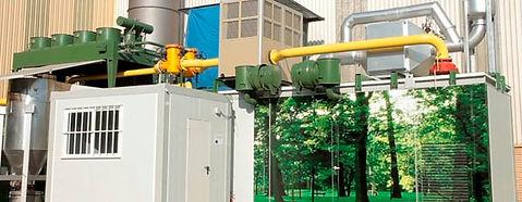 Pilot gasification plant 50kg/wastes