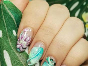 Nail art Gaïa nature