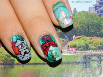 Nail art jardin asiatique