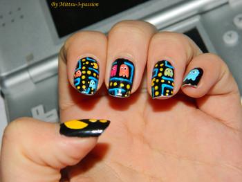 Nail art Pac Man à Art To Play