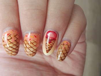 Nail art - les bonnes glaces de l'été!