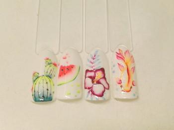 Formation nail art gel façon aquarelle avec SuperNana