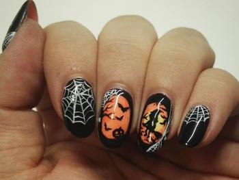 Sorcière et araignées débarquent sur mes ongles pour Halloween!