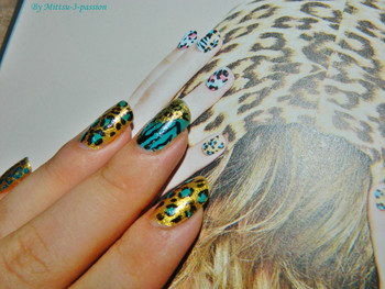 Nail art léopard de Lee Hong Ki