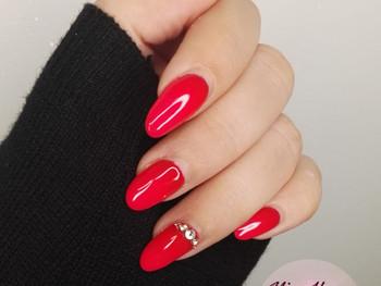 Dégradé de rouge avec strass